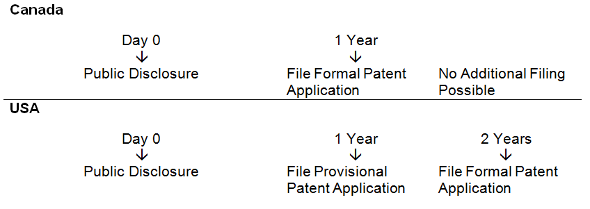 Patent Grace Period Timeline