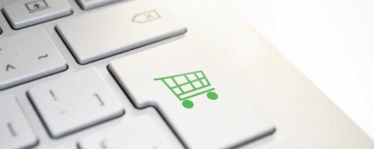 Online shopping, keyboard