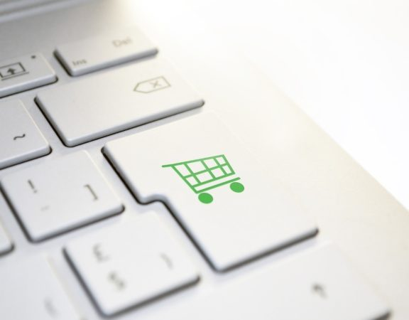 Online shopping, keyboard