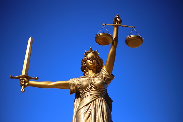 A statue of lady justice
