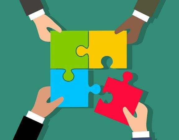 Puzzle pieces symbolizing diversity and inclusion